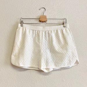 Diane von Furstenberg Eyelet Pull-On Shorts